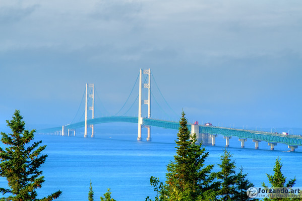 Mackinac Bridge from St. Ignace
