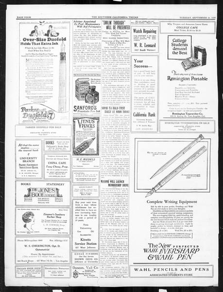 The Southern California Trojan, Vol. 16, No. 5, September 30, 1924