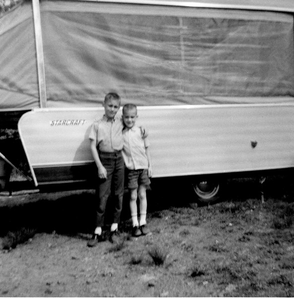 Brian and Mark and the camper.