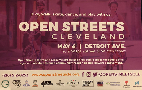 Open Streets of Cleveland, Sun., May 6, 2018