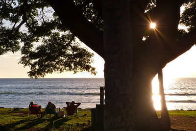 Ready for the Sunset at Puamana Park December 2013, Cynthia Meyer, Maui, Hawaii