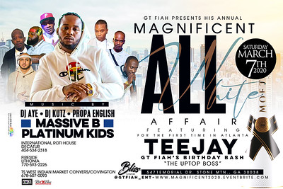 MAGNIFICENT GT FYAH ALL WHITE BDAY PARTY FEAT. TEE JAY
