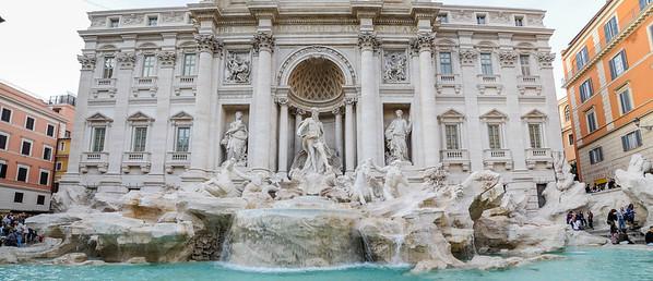 Day 6 shopping, Trevi Fountain & Silvia Cerio home