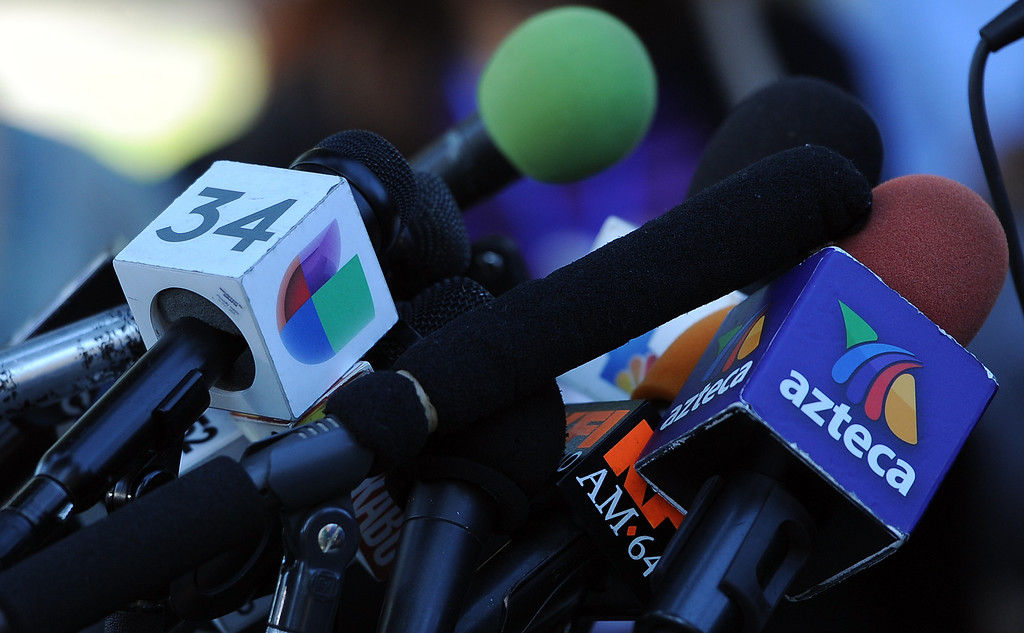 . A press conference with concerned regional elected officials calling for Senator Ron Calderon to resign his position in the California State Senate in front of the Bell Gardens City Hall in Bell Gardens , Calif., on Wednesday, Nov. 13, 2013.   (Keith Birmingham Pasadena Star-News)