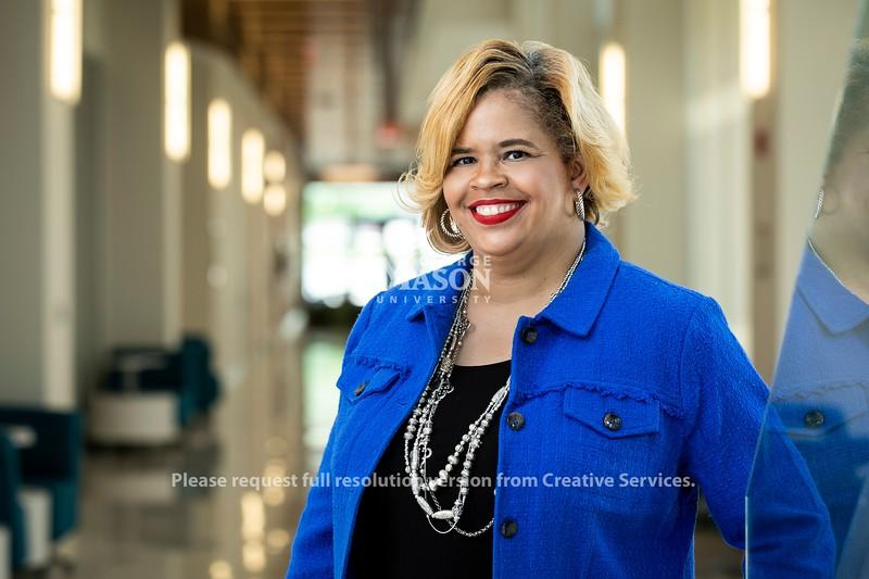 Trishana Bowden, Vice President, Adv and Alumni Relations/President, GMUF, Office of University Advancement and Alumni Relations.  Photo by:  Ron Aira/Creative Services/George Mason University