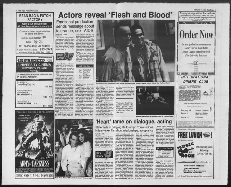 Daily Trojan, Vol. 119, No. 23, February 17, 1993