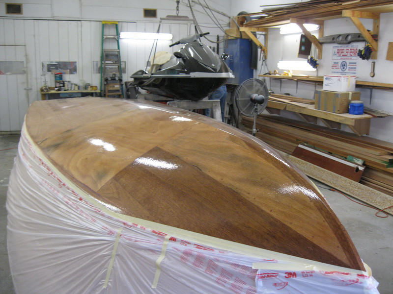 Front port view of epoxy applied.