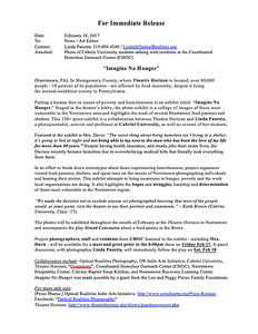 Theatre Horizon Press Release