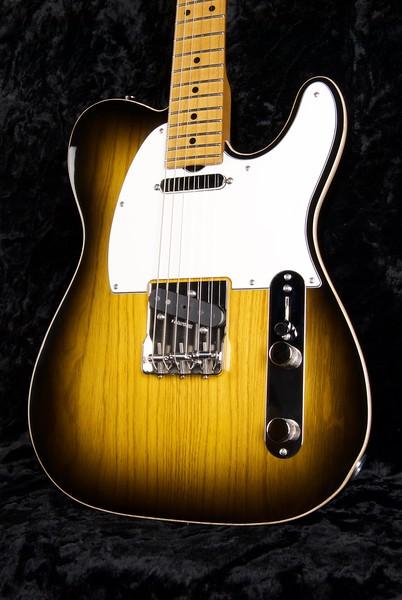 NOS Vintage T #3584, Swamp Ash Two Tone Burst with Scraped Binding Edge, Grosh T/T pickups