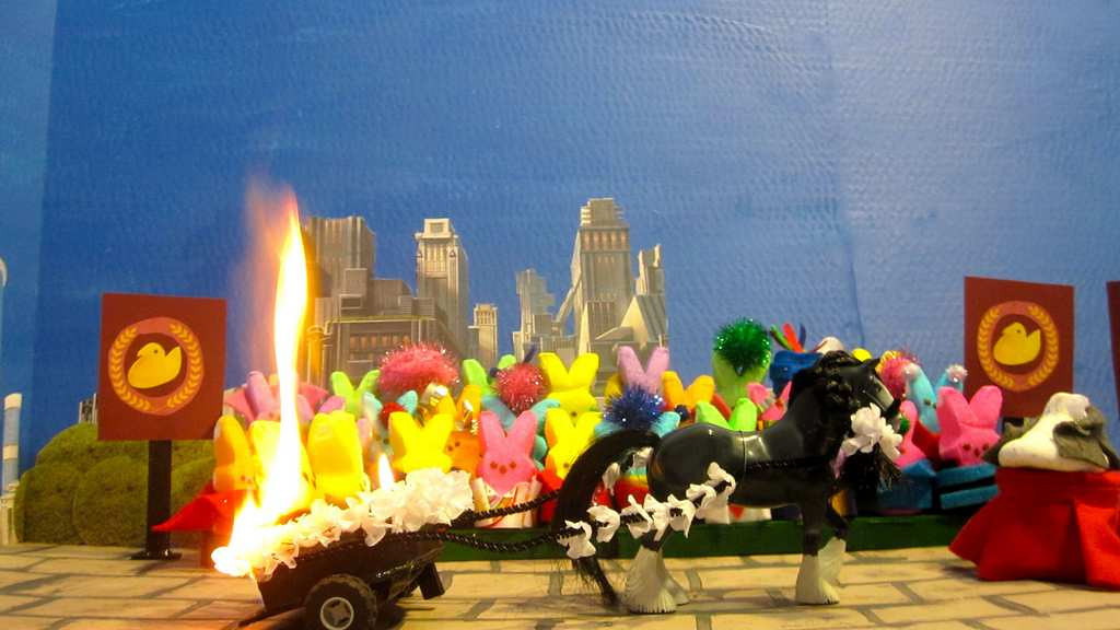""". \""""Peeps On Fire,\"""" by  Christa Nordlum of New Brighton"""