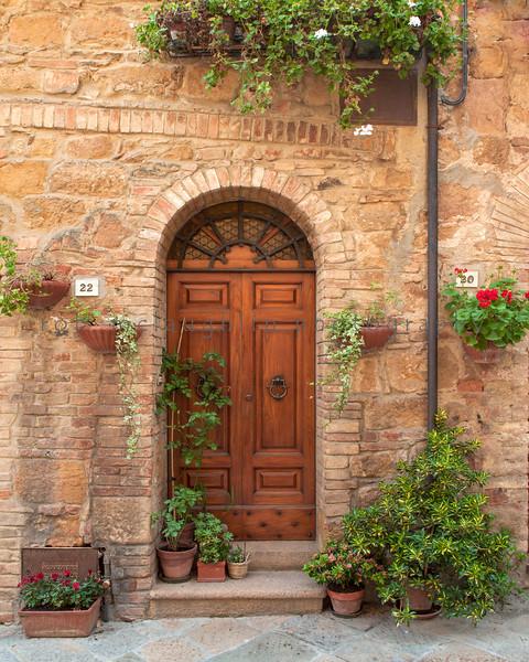 Door 22 , Pienza , Tuscany