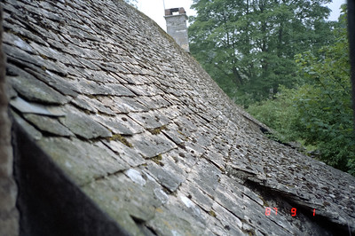 The slate roof of the Golden Swan Inn where I used to stay at in England.