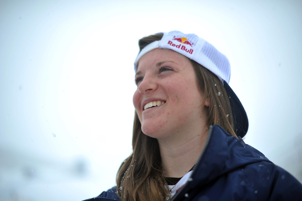 . VAIL, CO. - MARCH 1: Arielle Gold, 16, of Steamboat Springs is in Vail for Burton U.S. Open. March 1, 2013. Vail, Colorado. (Photo By Hyoung Chang/The Denver Post)