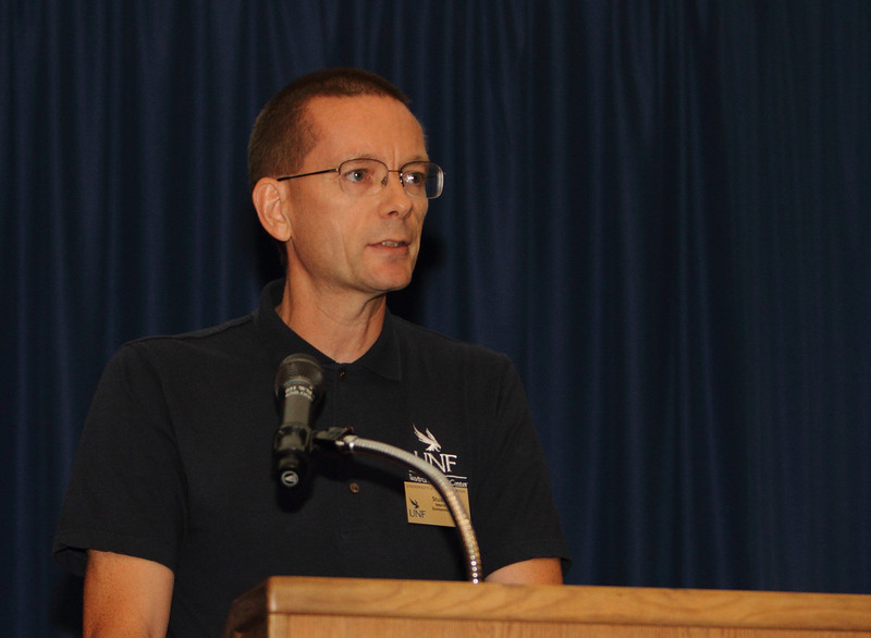 Stuart Chalk, PhD, Interim Director of UNF Environmental Center gave a welcome to UNF.