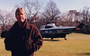 Waiting for Pres. Clinton outside the White House, around 1999. He was late as usual.