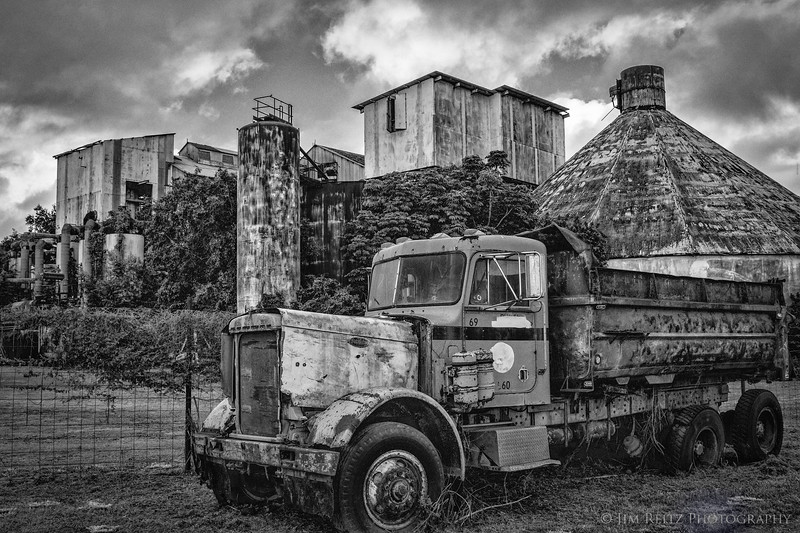 Abandoned sugar mill near Koloa, Kauai.