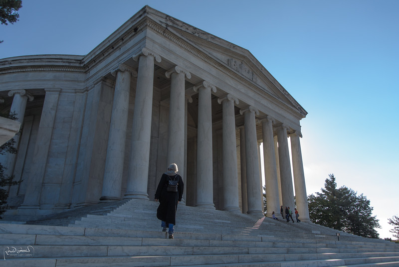 Marge at Jefferson Memorial