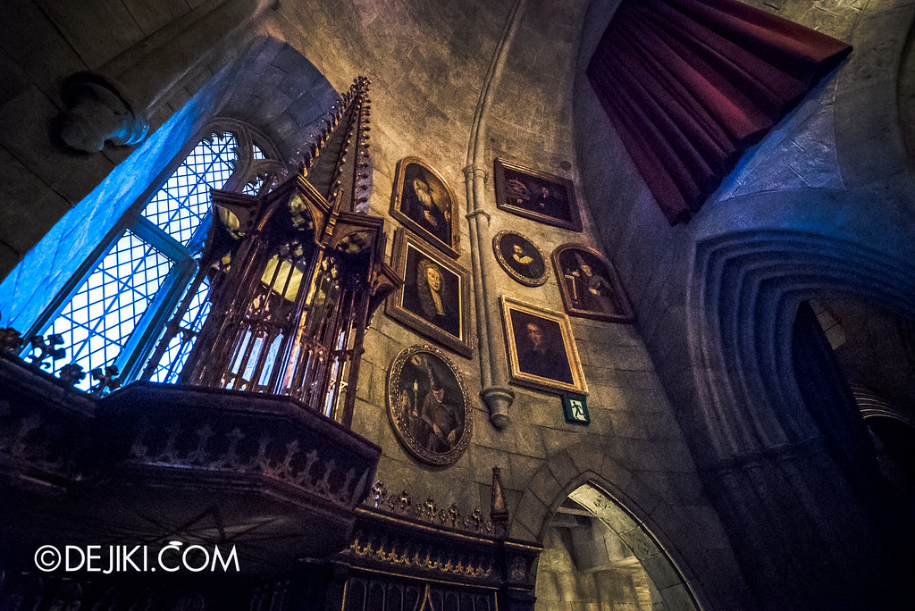 Universal Studios Japan - Harry Potter and the Forbidden Journey / Hogwarts Castle Walk Tour - Dumbledore's Office / Portraits