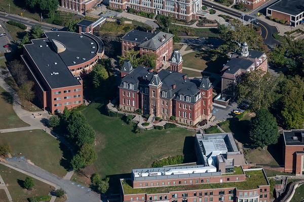 WVU campus aerials