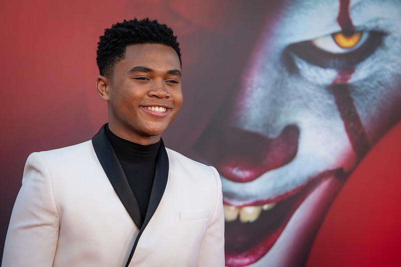 "WESTWOOD, CA - AUGUST 26: Chosen Jacobs attends the Premiere Of Warner Bros. Pictures' ""It Chapter Two"" at Regency Village Theatre on Monday, August 26, 2019 in Westwood, California. (Photo by Tom Sorensen/Moovieboy Pictures)"
