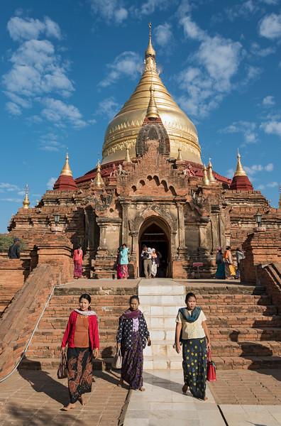 Dhammayazika - Dhamma Ya Zi Ka - Pagoda, Bagan, Burma - Myanmar