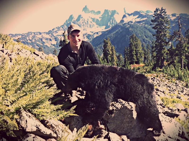 Washington fall black bear