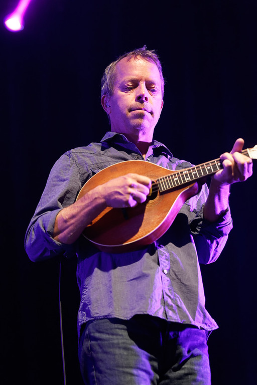 . David Immergluck of Counting Crows plays mandolin at Sound Board in the MotorCity Casino on Friday, July 18, 2014. Photo by Ken Settle