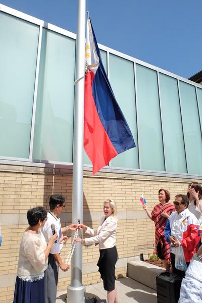 Philippine Flag Raising at Mississauga City Hall 2018