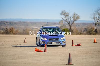Blue Subaru WRX
