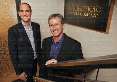 Reknown economist Matthew Gardener (left) and Geoff Wood, chief executive officer of Windermere, are pictured in the company's headquarters in Seattle, Washington