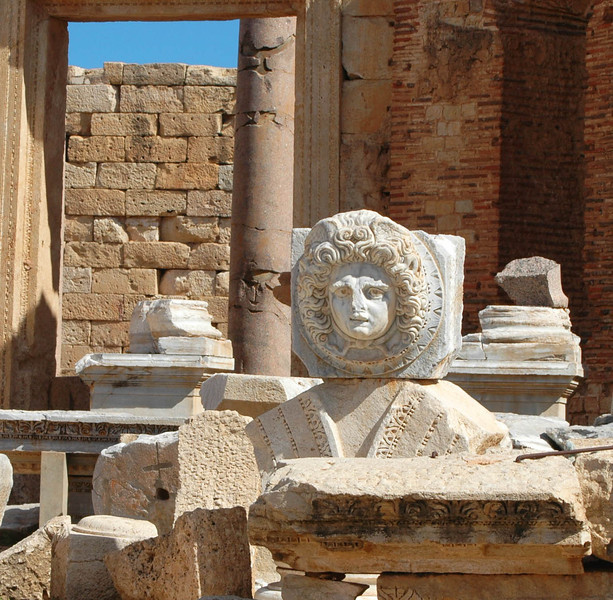 Leptis Magna: New Forum (Roman, 2nd/3rd centuries A.D.), with Medusa medallion
