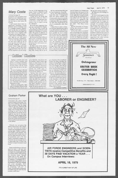 Daily Trojan, Vol. 76, No. 39, April 05, 1979