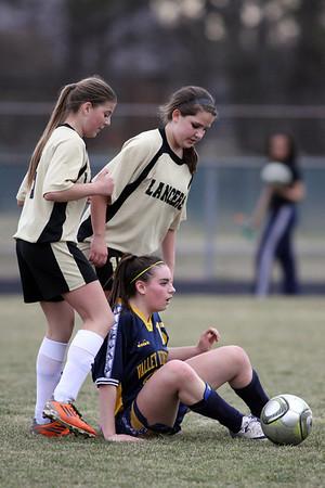 Valley Lutheran at Bullock Creek soccer 20130415