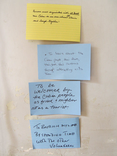 More shared goals for our Global Volunteers Project (the lower middle one is mine).