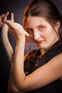 Snake Lady or Girl Handling Live Snakes Photographs in Both Black and white sepia and color