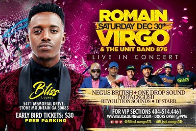 ROMAIN VIRGO LIVE IN CONCERT @ BLISS LOUNGE ATLANTA