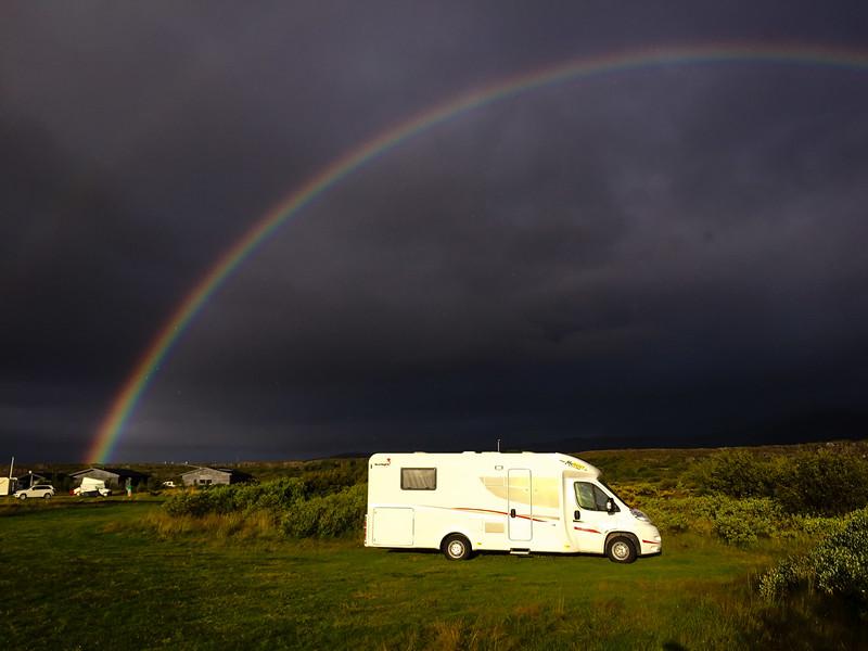 Campsite rainbow