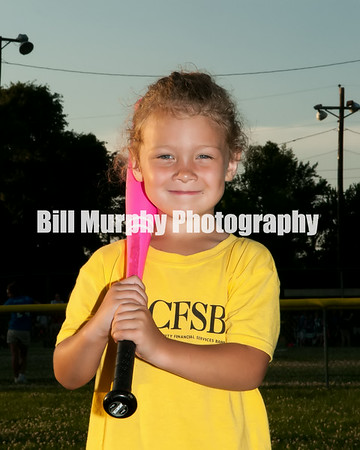 3-4 Girls T-Ball Yellow CFSB Team, Coaches Devany Griggs & Kara Hamby, June 3, 2014.
