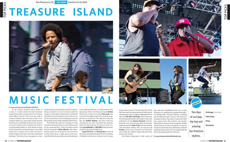 Performer Magazine, Oct 2012
