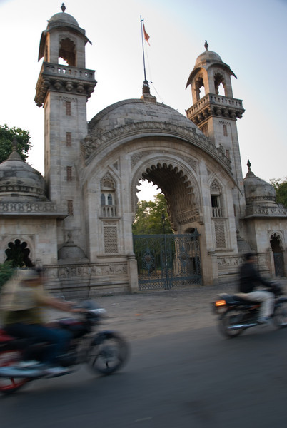Baroda palace gates. Unfortunately, the palace wasn't open for a tour when we went.