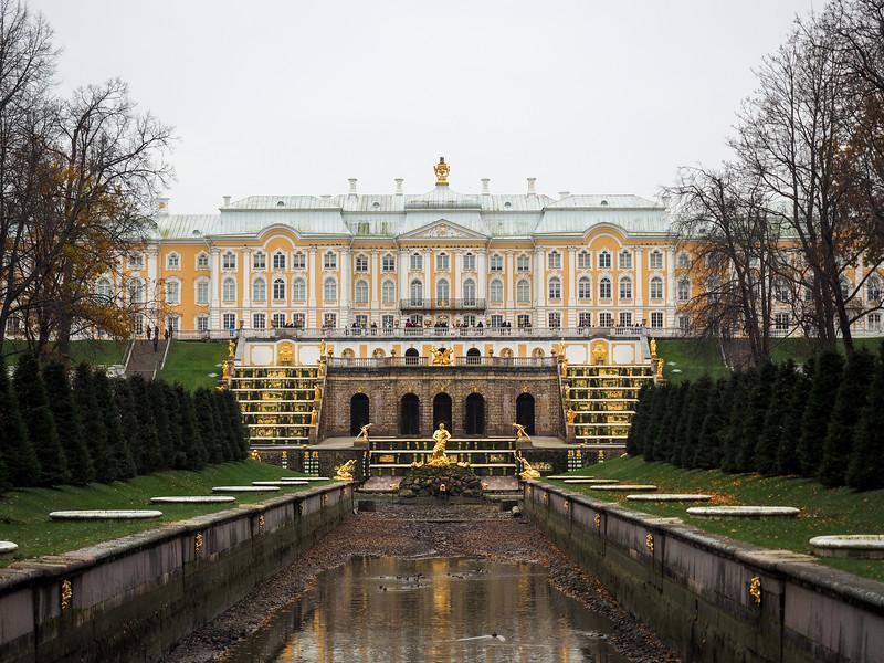 Peterhof Palace in Russia in winter