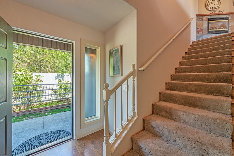 Front Entry and Stairs to Living Room