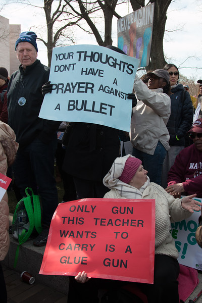 March for Our Lives, March 24, 2018 for ending gun violence in schools after the Parkland, FL school massacre.