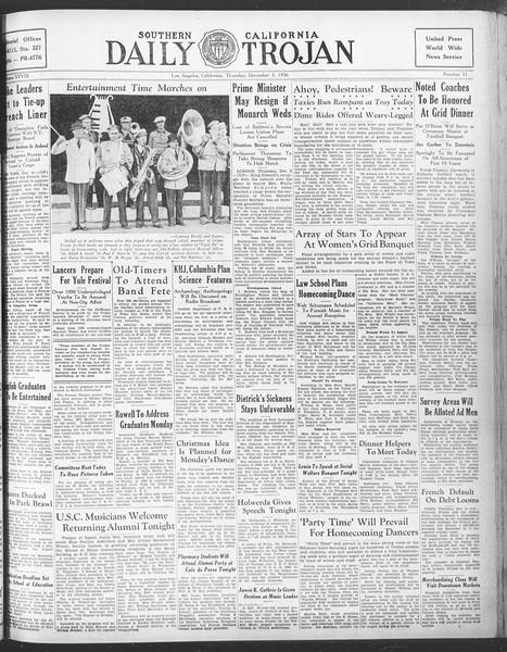 Daily Trojan, Vol. 28, No. 51, December 03, 1936
