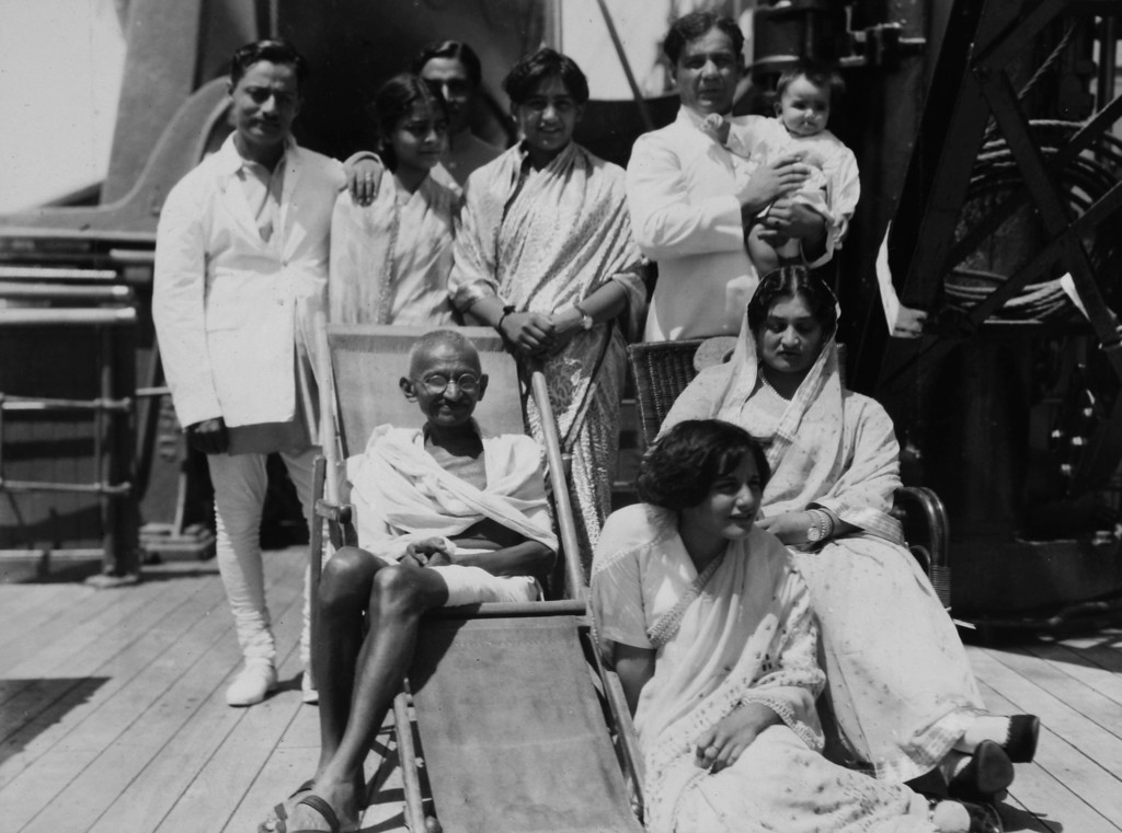 . Mahatma Gandhi with fellow passengers aboard the S.S. Rajputana en route to the Second Roundtable Conference on Dominion Status for India (September - December 1931) in London. (AP Photo/James A. Mills)