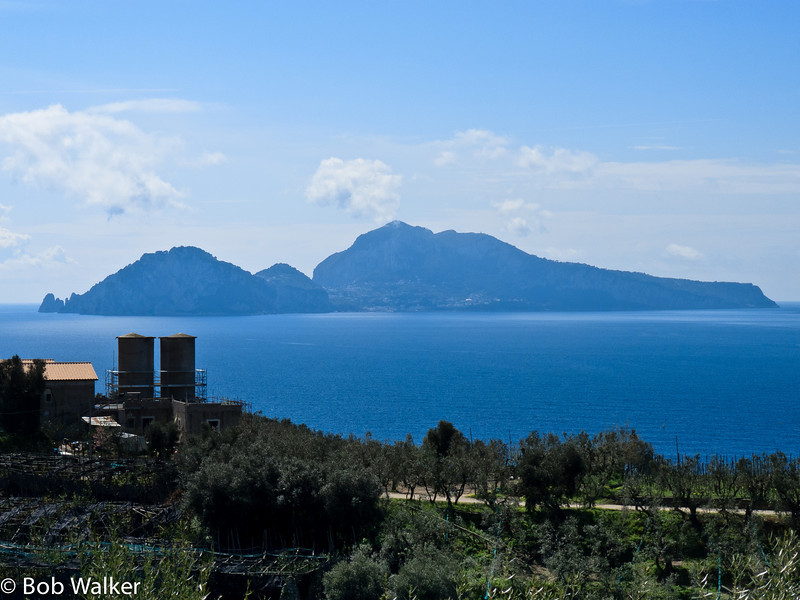 The Isle of Capri (note- I need to Photoshop those silo's out of the picture!!!)