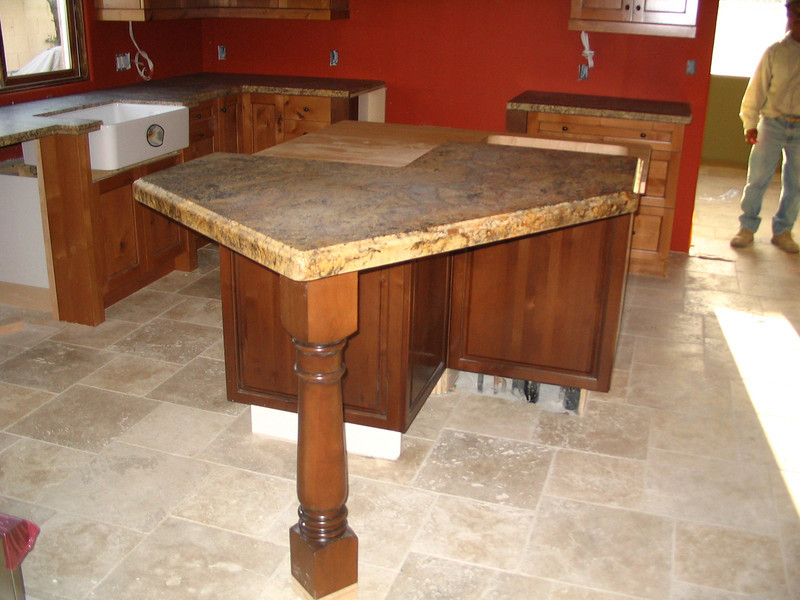 Granite countertops are now installed.