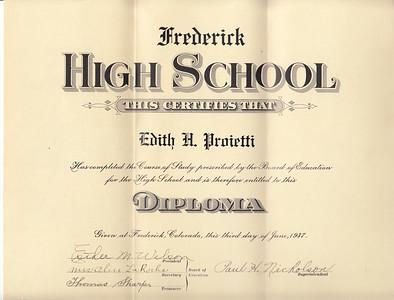 Frederick High Graduation 1937 -- Gramma Edith
