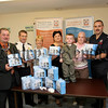 Orana Sure Start Keeping Children Safe,launch of Home Safety packs free for local Families and Children, Picture lto R.Deputy Mayor Martin Connolly,Kenny Mc Mahon,Div officer NI Ambulance Service, Lorainne Brown, Anna Rice, Finn an Seaneen Morgan,Rory Dumigan,NI Fire and Rescue Service.06W38N5