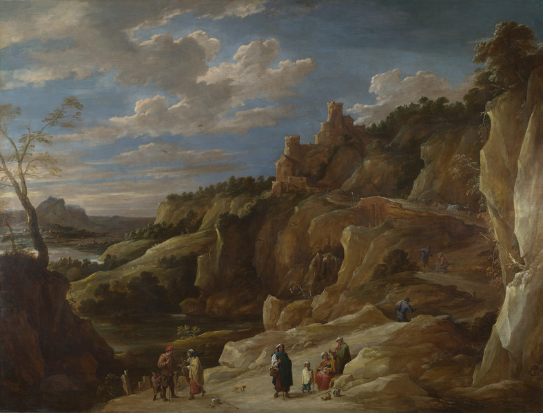 A Gipsy Fortune Teller in a Hilly Landscape